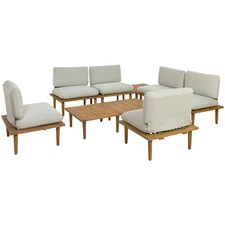 6 Seater Modular Cuba Outdoor Lounge & Table Set