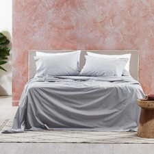 Silver Vintage Washed Cotton Sheet Set