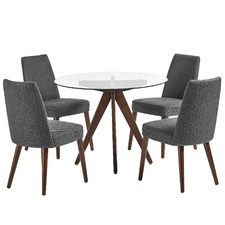 4 Seater Banjo Mid Century Dining Table & Chairs Set