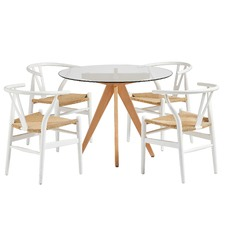 4 Seater Hans Wegner Replica Dining Chairs & Table Set
