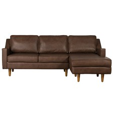 Taylor 3 Seater Italian Leather Chaise Sofa
