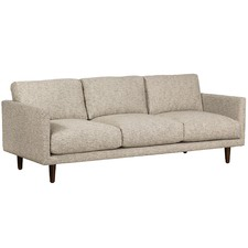 Grey Carson 3 Seater Upholstered Sofa