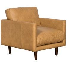 Tan Carson Italian Leather Armchair