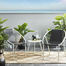 Metro Rattan 2 Seater Outdoor Balcony Set