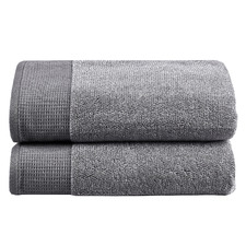 Grey Marle Cotton Waffle Bath Sheets (Set of 2)