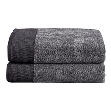 Charcoal Marle Plush Cotton Waffle Bath Sheets (Set of 2)