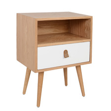 White Oak Luna Bedside Table