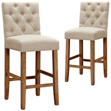 65cm Windsor Provincial Linen Barstools (Set of 2)