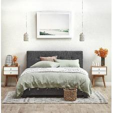 Dark Grey Arne Tufted Upholstered Bed