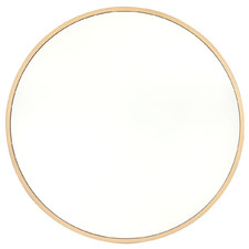 Natural Noho Round Wooden Wall Mirror
