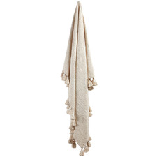 Ivory Raffa Cotton Throw