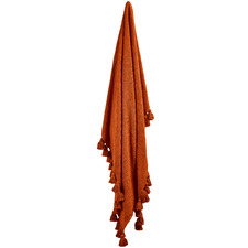 Rust Raffa Cotton Throw