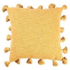 Mustard Square Cotton Cushion