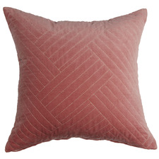 Pink Abigail  Cotton Velvet Cushion