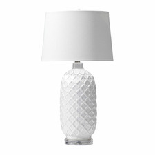 White Fez Table Lamp