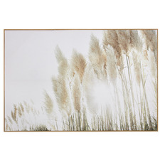 Sunshine Pampas Framed Canvas Wall Art