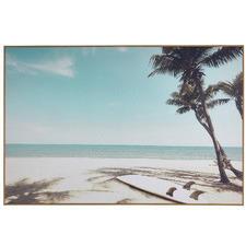 Surfer's Rest Framed Canvas Wall Art
