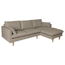 Sand Silas Sofa with Right Chaise