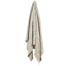 Natural Cable Knitted Cotton Throw