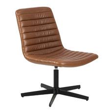 Tan Boston Faux Leather Lounge Chair