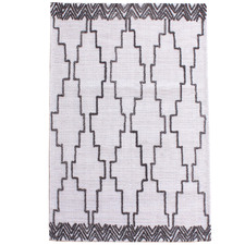 Ivory & Grey Icon Hand-Woven Wool Rug