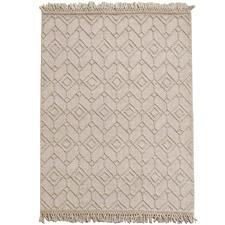 Beige Terra Hand-Woven Wool Rug