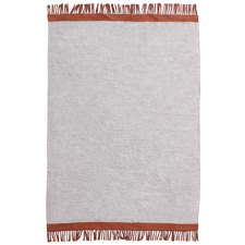Rust & Grey Mercer Hand-Woven Wool Rug