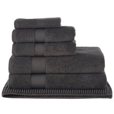 6 Piece Charcoal Aspen 550GSM Turkish Cotton Towel Set