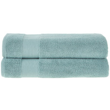 Seafoam Aspen 550GSM Turkish Cotton Bath Sheets (Set of 2)