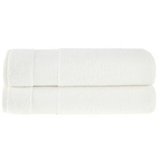 White Aspen 550GSM Turkish Cotton Bath Sheets (Set of 2)