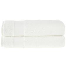 White Aspen 550GSM Turkish Cotton Towel Set