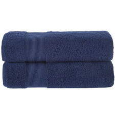 Navy Grand 800GSM Turkish Cotton Bath Sheets (Set of 2)