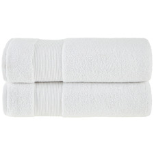 White Grand 800GSM Turkish Cotton Bath Sheets (Set of 2)
