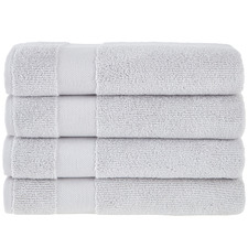 Light Grey Aspen 550GSM Turkish Cotton Bath Towels (Set of 4)