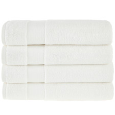 White Aspen 550GSM Turkish Cotton Bath Towels (Set of 4)