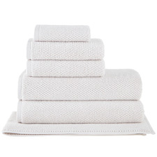 6 Piece Oatmeal Willow 600GSM Turkish Cotton Towel Set