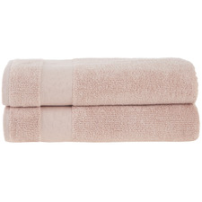 Blush Aspen 550GSM Turkish Cotton Bath Sheets (Set of 2)