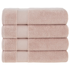 Blush Aspen 550GSM Turkish Cotton Bath Towels (Set of 4)