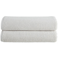 Oatmeal Willow 600GSM Turkish Cotton Bath Sheets (Set of 2)