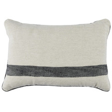 Black Cotton-Linen Cushion