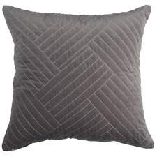 Charcoal Abigail Cotton Velvet Cushion