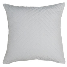 Silver Abigail Cotton Velvet Cushion