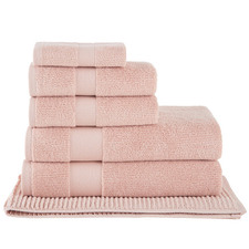 6 Piece Blush Aspen 550GSM Turkish Cotton Towel Set