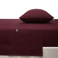 Wine Vintage-Wash Cotton Sheet Set