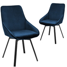 Nappa Velvet Swivel Dining Chairs (Set of 2)
