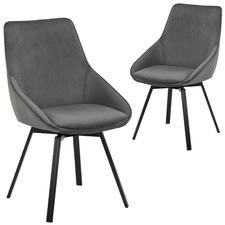 Nappa Velvet Swivel Dining Chairs (Set of 2)
