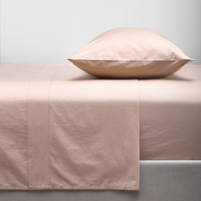 Blush Washed Organic Cotton Sheet Set