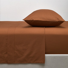 Cinnamon Washed Organic Cotton Sheet Set