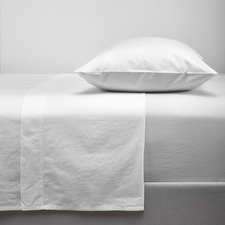 White Washed Organic Cotton Sheet Set