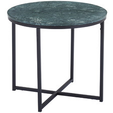 Green Siena Round Marble Side Table